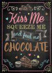 VINTAGE STYLE RETRO METAL WALL SIGN TIN PLAQUE FEED ME CHOCOLATE HOME DECOR